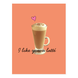 I Like you a latté card