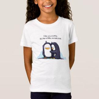 I Like You a Lottle Penguins - Girl's Tee