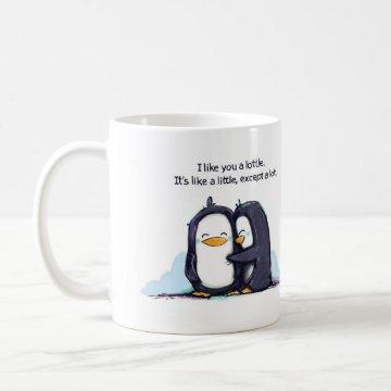 I Like You a Lottle Penguins - Mug Mug at Zazzle