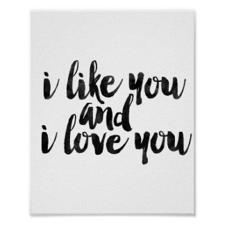 I Like You And I Love You Poster