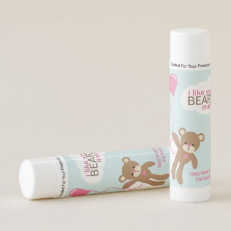 """""""I Like You Beary Much"""" Valentines Day Lip Balm"""