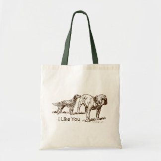 I Like You Dog Humor Tote Bag