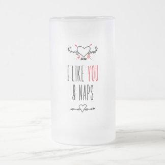I like you frosted glass beer mug