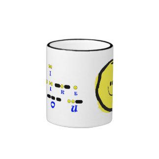 I LIKE YOU  Morse Code Smiley Mug