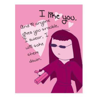 I Like You (radio edit) - Yuki valentine Postcard