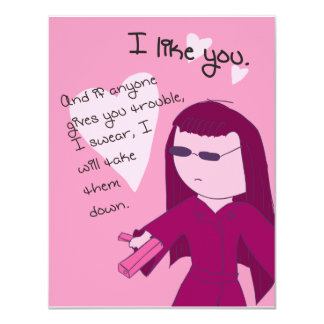 I Like You (Yuki Radio Edit) - Pack of Valentines 4.25x5.5 Paper Invitation Card