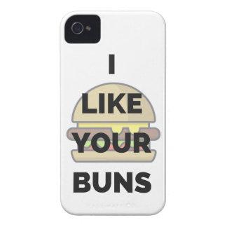 I Like Your Buns Hamburger Humor Illustration Case-Mate iPhone 4 Case