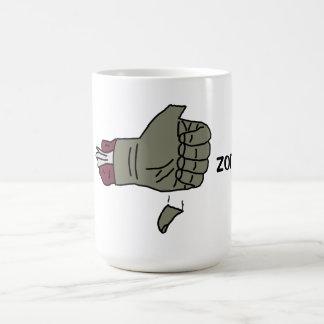 I like zombies mug with thumb falling off