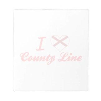 I línea del condado de Love, Alabama Bloc De Notas