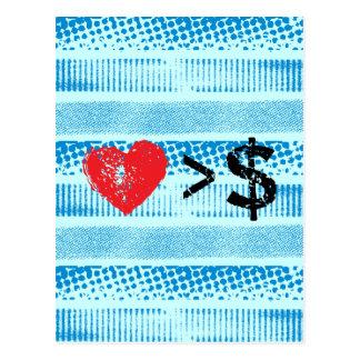 I líneas del corazón t tarjeta postal