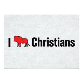 "I Lion Christians 5"" X 7"" Invitation Card"