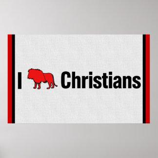 I Lion Christians Poster