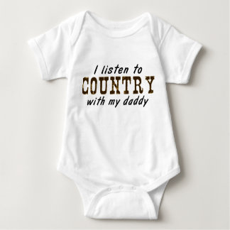 I listen to COUNTRY with my daddy T Shirts