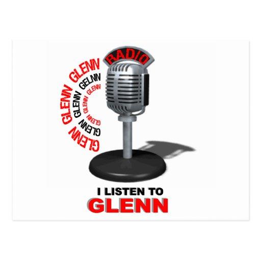 I Listen to Glenn Beck Postcard