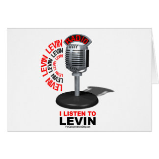 I Listen To Levin Card