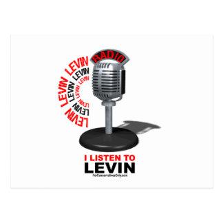 I Listen To Levin Postcard