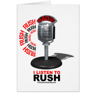 I Listen to Rush Card
