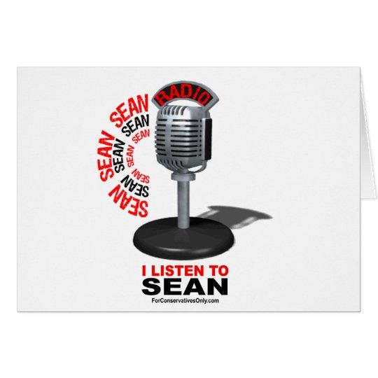 I Listen to Sean Card
