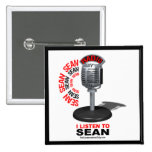 I Listen to Sean Pinback Buttons