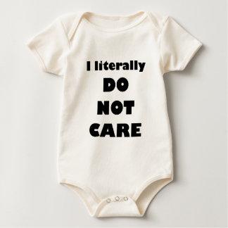 I literally DO NOT CARE Baby Bodysuit
