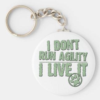 I Live Agility Key Chain