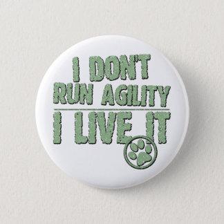 I Live Agility Pinback Button