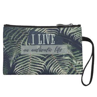 I Live An Authentic Life Wristlet Wallet