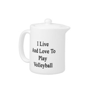 I Live And Love To Play Volleyball