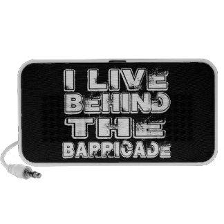 I Live Behind The Barricade Mini Speaker