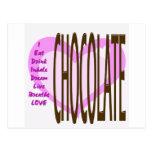 I LIVE Chocolate! Postcard
