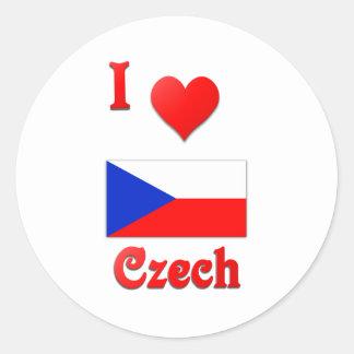 I Live Czech Sticker