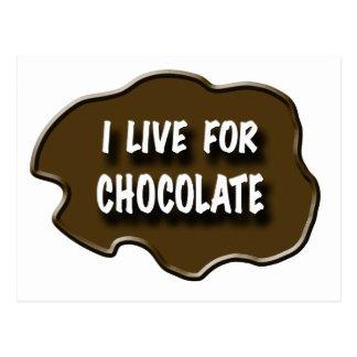 I Live for Chocolate Postcard