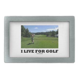 I Live For Golf (Golfer On Golf Course) Belt Buckles