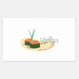 I Live For Sushi Rectangular Sticker