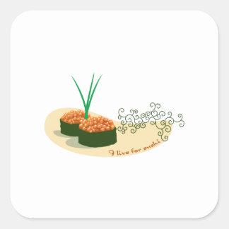 I Live For Sushi Square Sticker