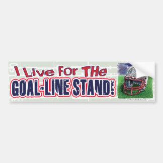 I Live for the Goal-Line Stand! Bumpersticker Bumper Sticker