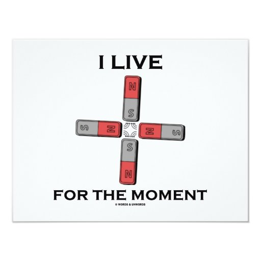 I Live For The Moment (Magnetic Quadrupole Moment) 4.25x5.5 Paper Invitation Card
