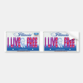 I Live Free Bumper Sticker