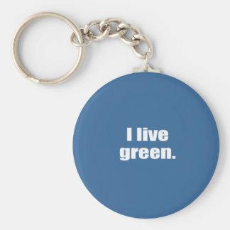 I live green. key chain