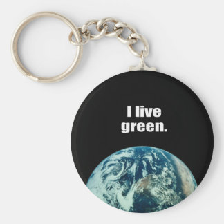I live green. keychain