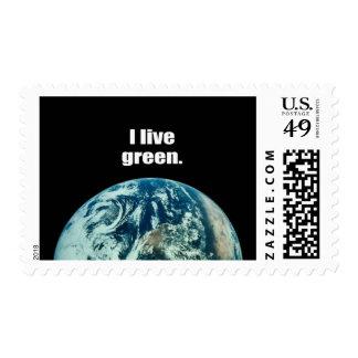 I live green. postage
