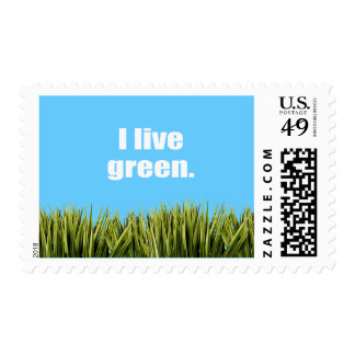 I live green. postage stamp