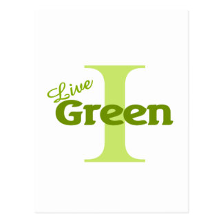 i live green postcard