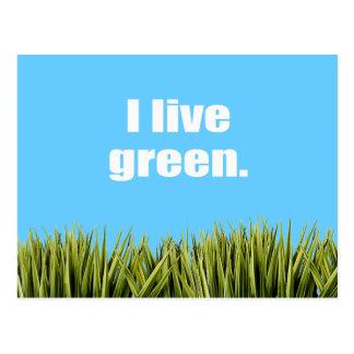 I live green. postcard