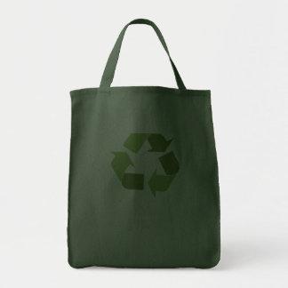 I live green. tote bag