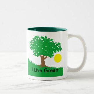 I Live Green Two-Tone Coffee Mug