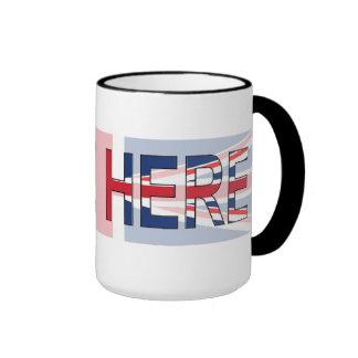 I live here, ringer mug