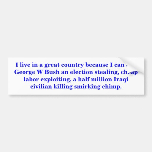 I live in a great country. car bumper sticker