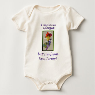 I Live In Georgia - But I'm From New Jersey! Baby Bodysuit