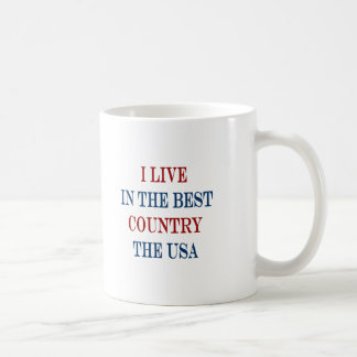 i live in the best country the usa coffee mugs